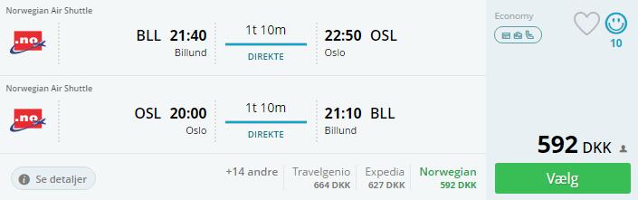 Flybilletter til Oslo i Norge