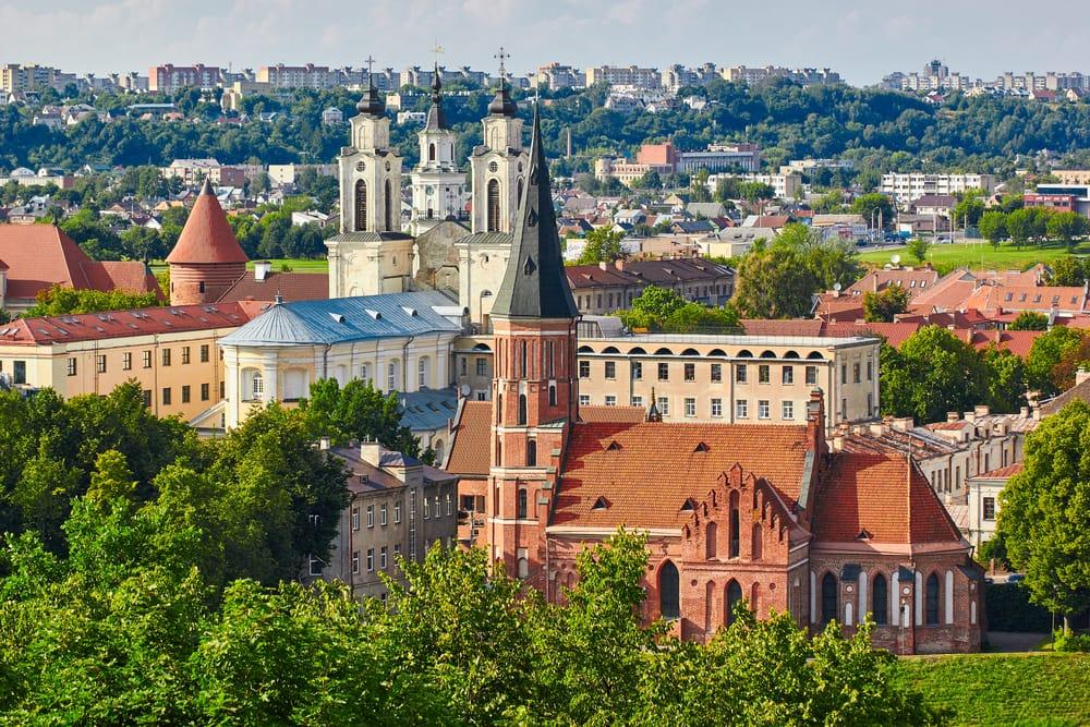 Panorama view over Kaunas i Litauen