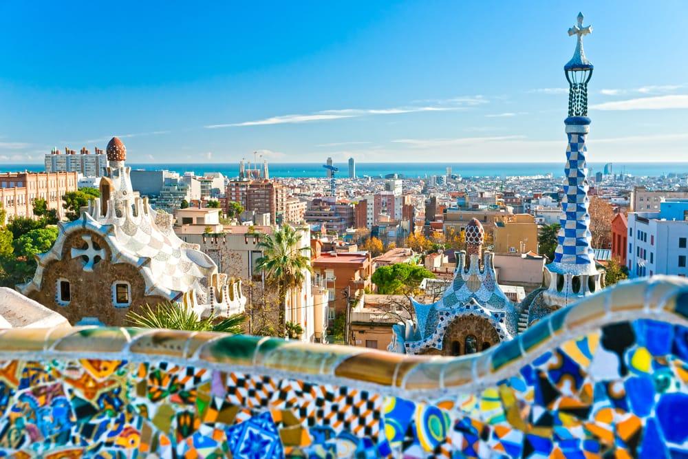 Park Guell i Barcelona - Spanien