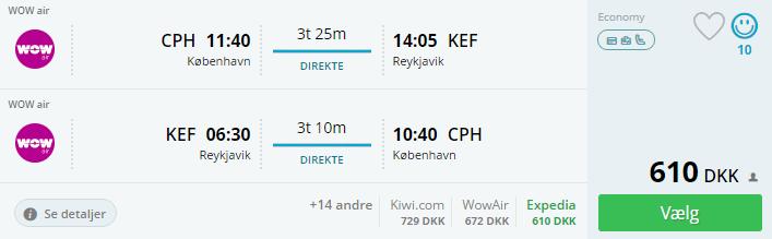 Billige flybilletter til Reykjavik i Island