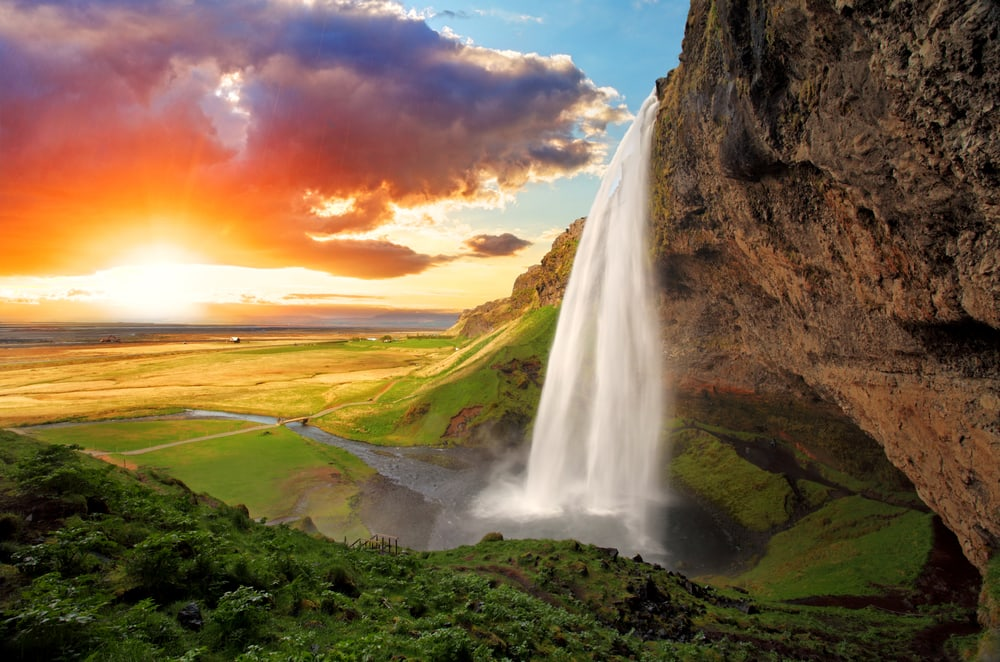 Seljalandsfoss vandfaldet i Island