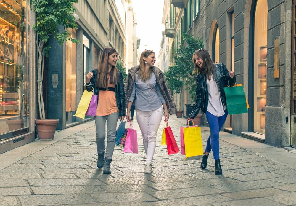 Shop amok i Milano - Italien