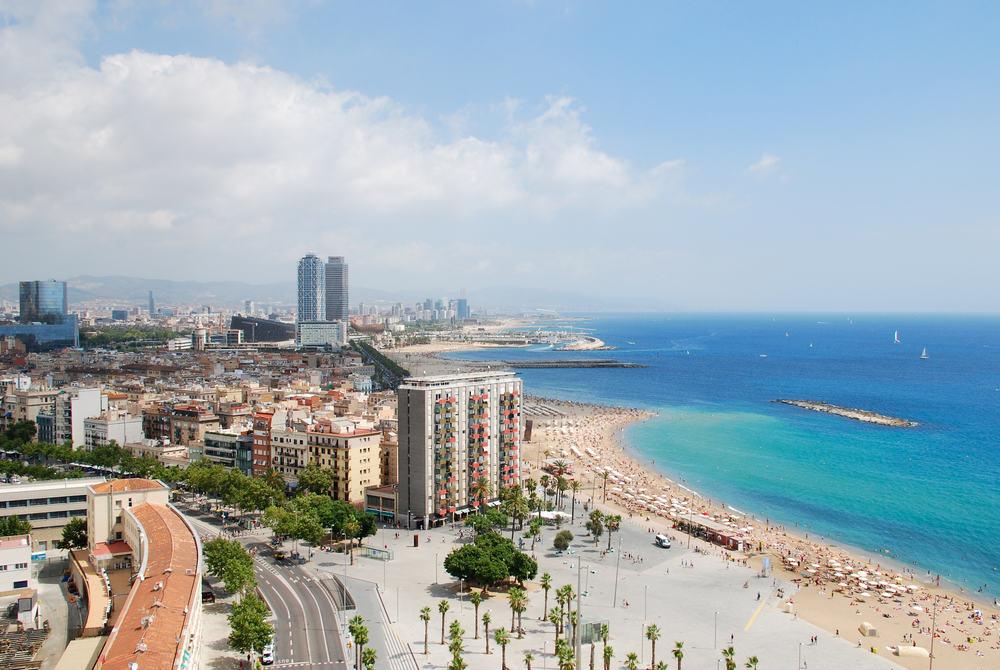 Strand - Barcelona i Spanien