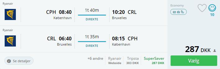 Flybilletter til Bruxelles i Belgien