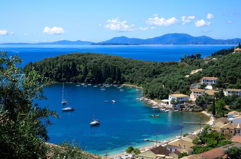 Smuk bugt - Korfu i Grækenland