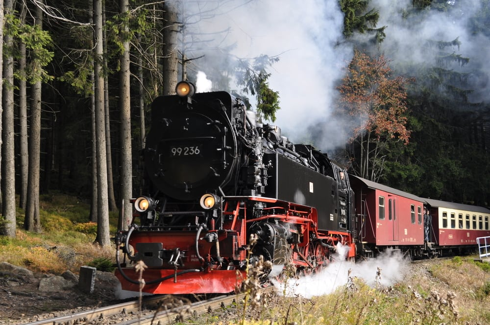 Damplokomotiv - Harzen i Tyskland