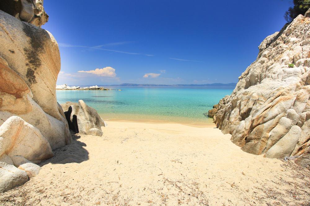Strand - Halkidiki i Grækenland