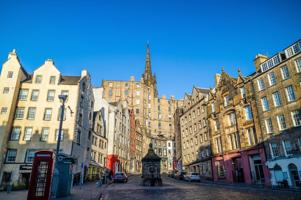 Den gamle bydel i Edinburgh - Skotland