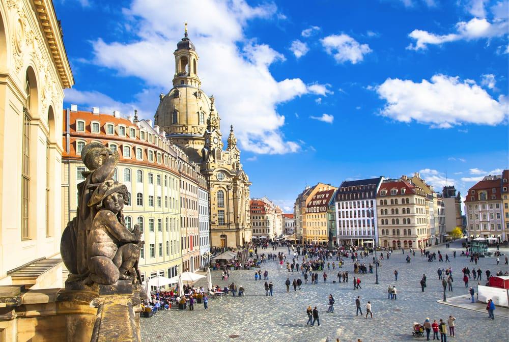 Frauenkirche - Dresden i Tyskland