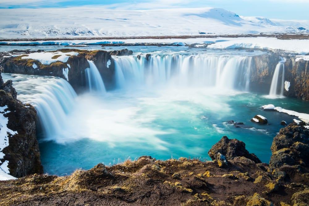 Goddafoss vandfaldet - Island