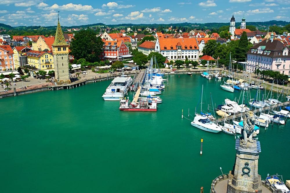 Havnen i Lindau i Tyskland