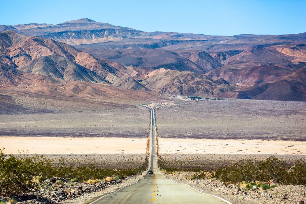 Highway 190 i Death Valley