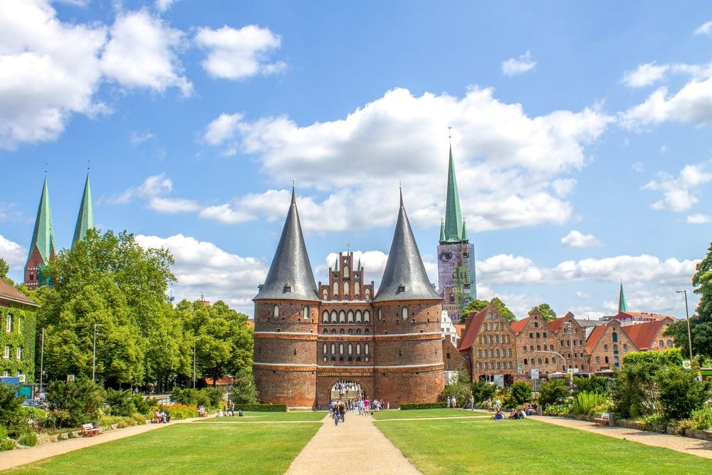 Holstentor - Lübeck i Tyskland