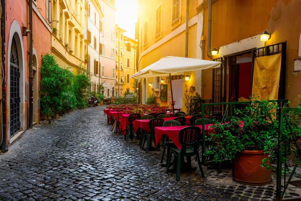 Hyggelig café - Rom i Italien