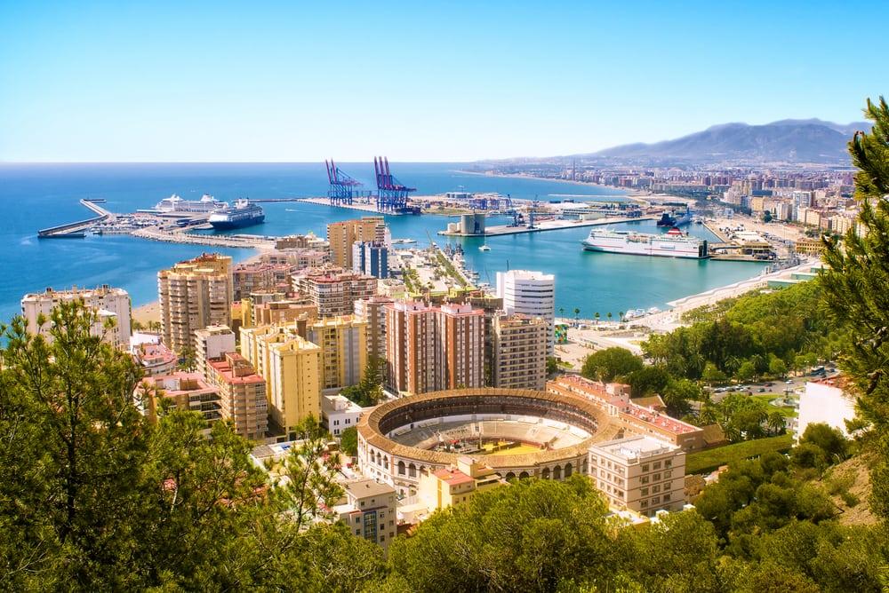 Malaga på Costa del Sol i Spanien