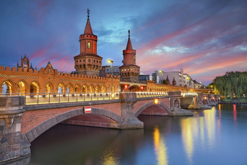 Oberbaum broen - Berlin i Tyskland