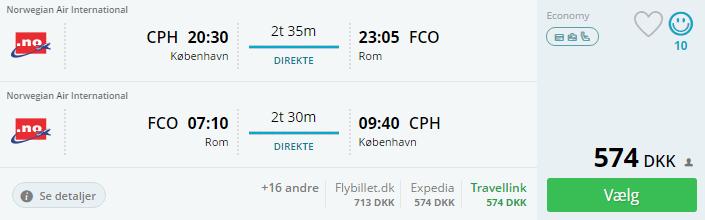 Flybilletter til Rom i Italien