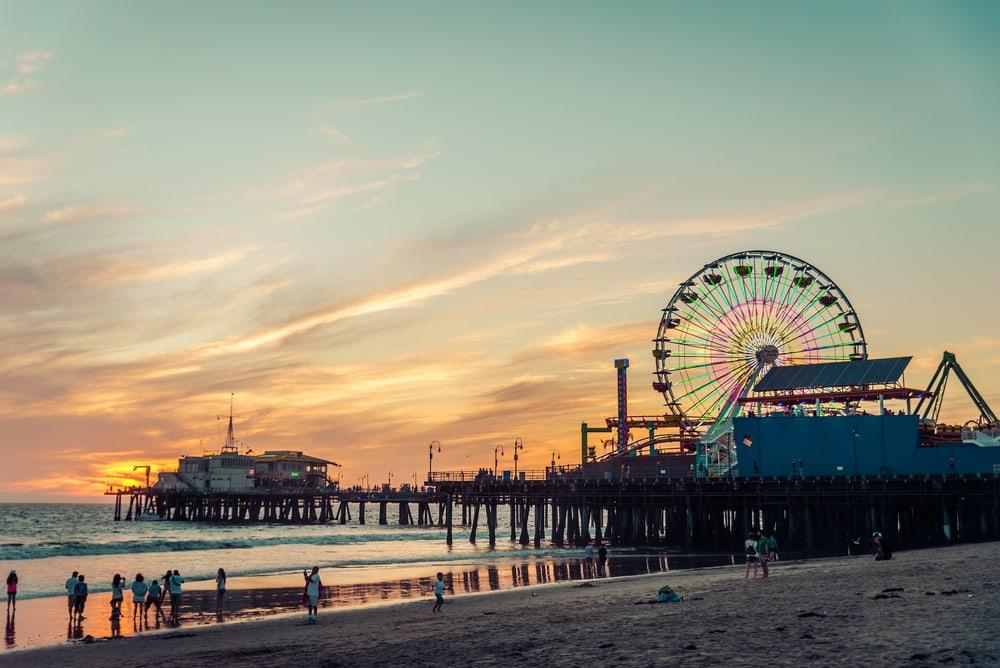 Santa Monica Pier - Los Angeles i Californien - USA