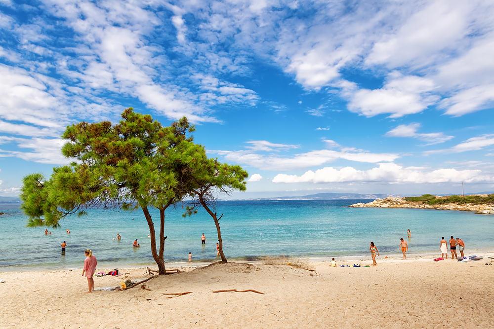 Vourvourou stranden - Halkidiki i Grækenland