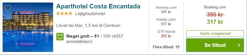 Aparthotel Costa Encantada - Costa Brava i Spanien