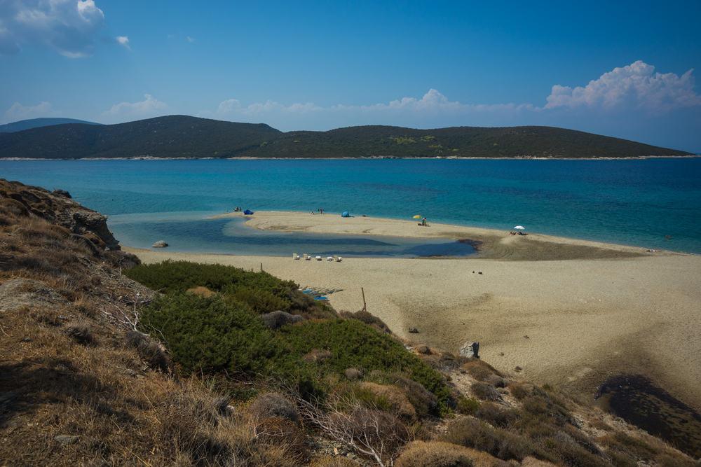 Dejlig sandstrand Evia - Grækenland