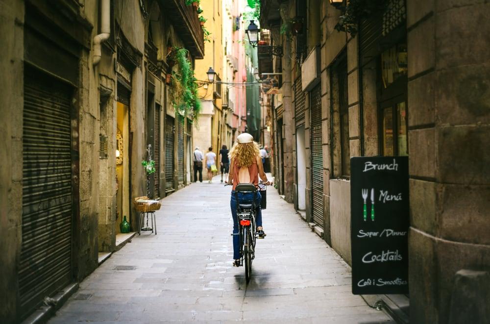 Den gamle bydel i Barcelona - Spanien