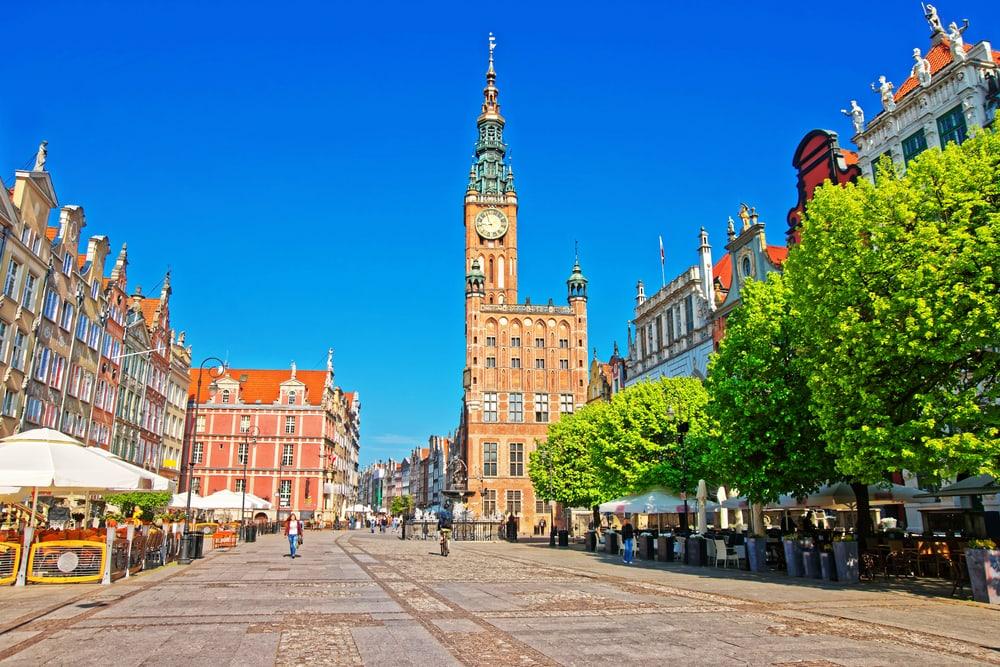 Dlugi Targ pladsen - Gdansk i Polen