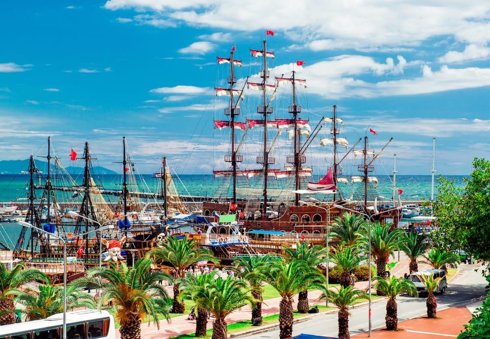 Lystbådehavnen i Alanya - Tyrkiet