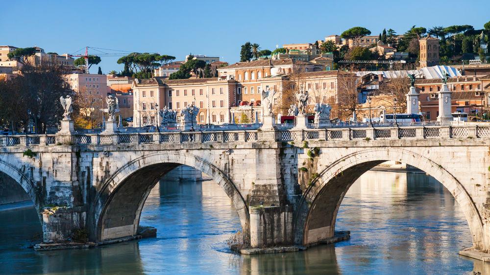 Ponte Sant Angelo - Rom i Italien