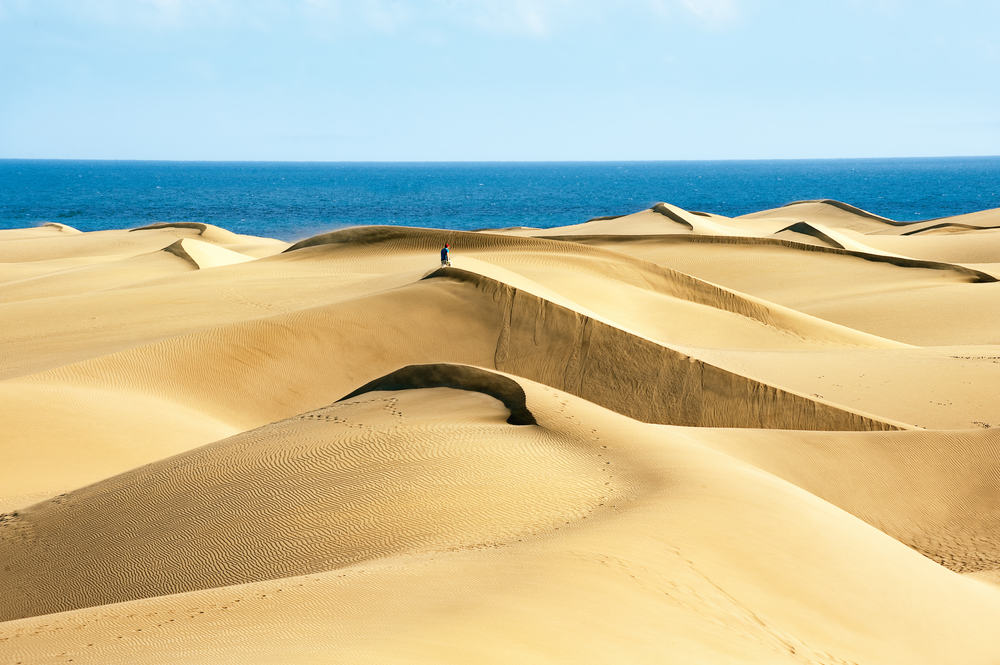 Sandbanker ved Maspalomas stranden - Gran Canaria i Spanien