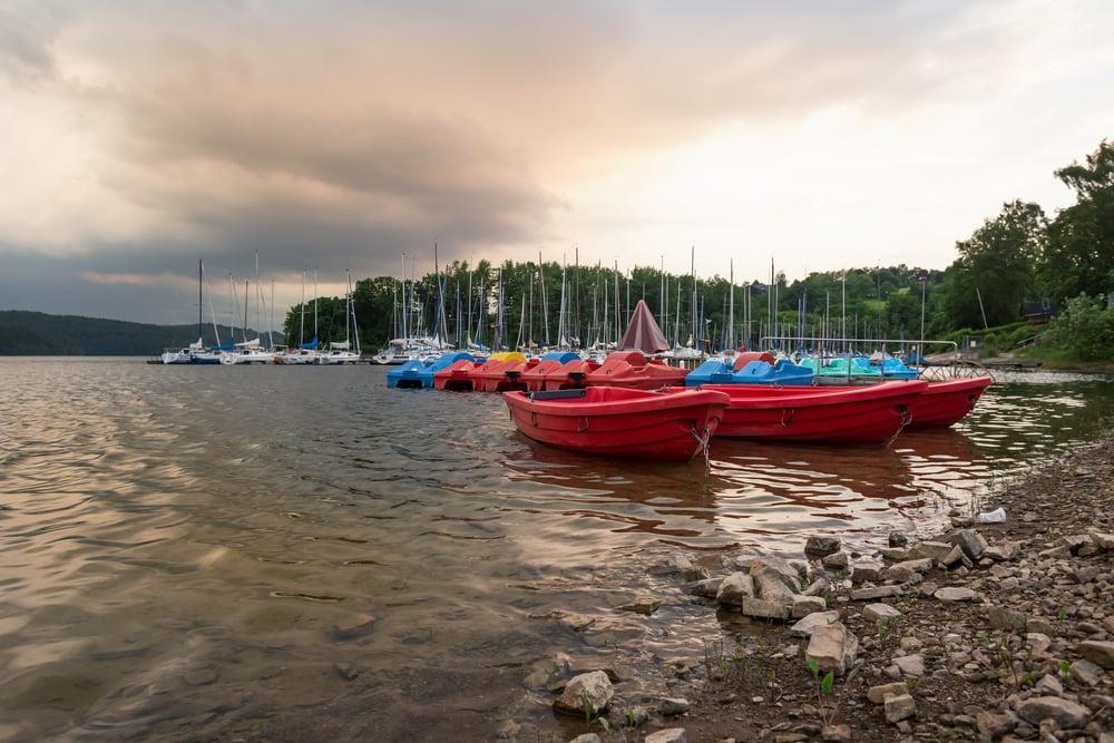 Sorpesee søeen - Sauerland i Tyskland