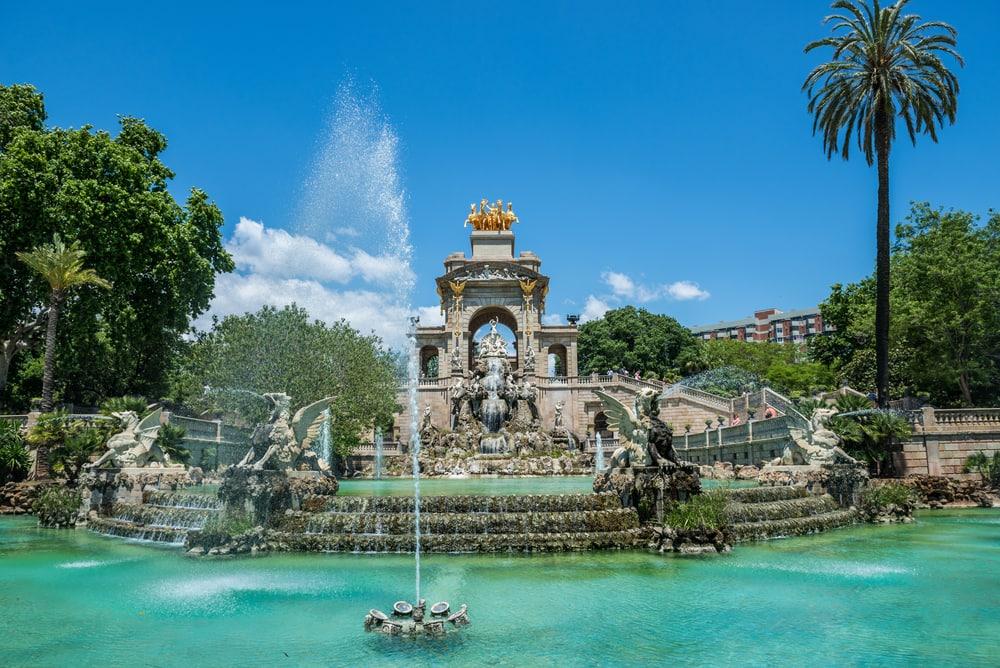 Springvand i Parc de la Ciutadella - Barcelona i Spanien