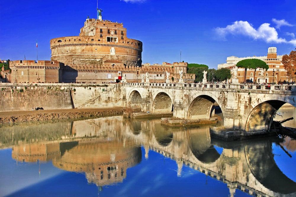 St. Angelo slottet - Rom i Italien