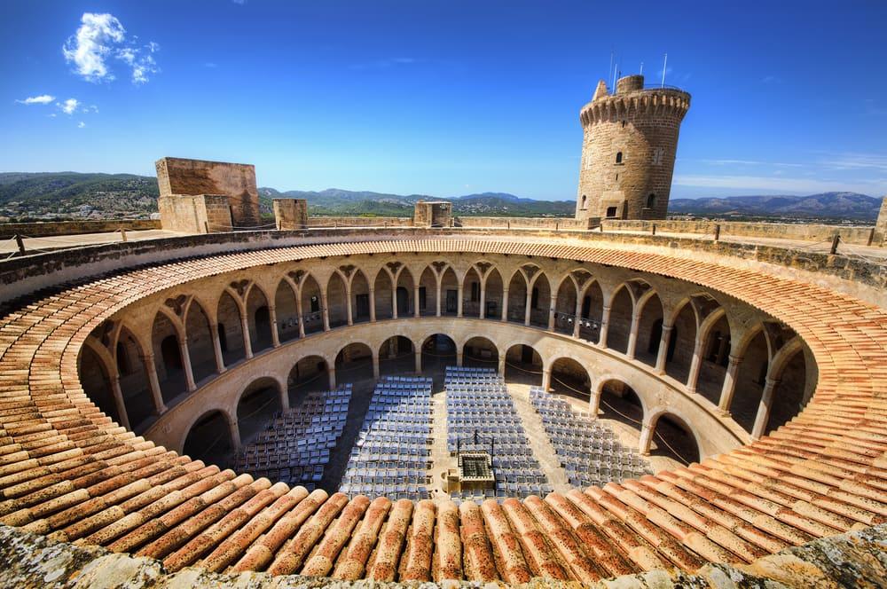 Bellver slottet - Mallorca i Spanien