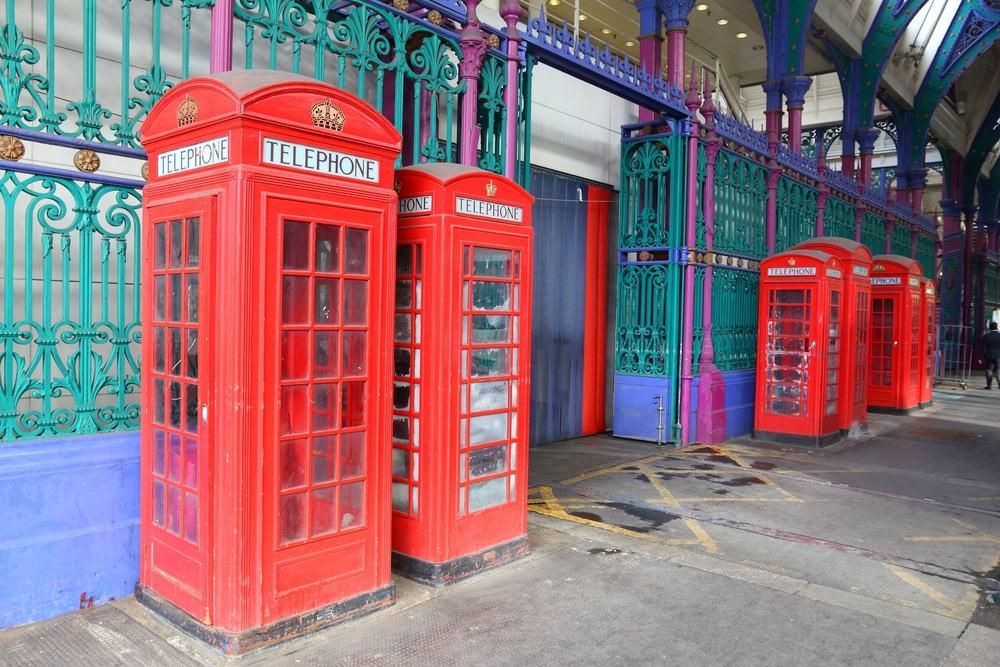 Røde telefonbokse - London i England