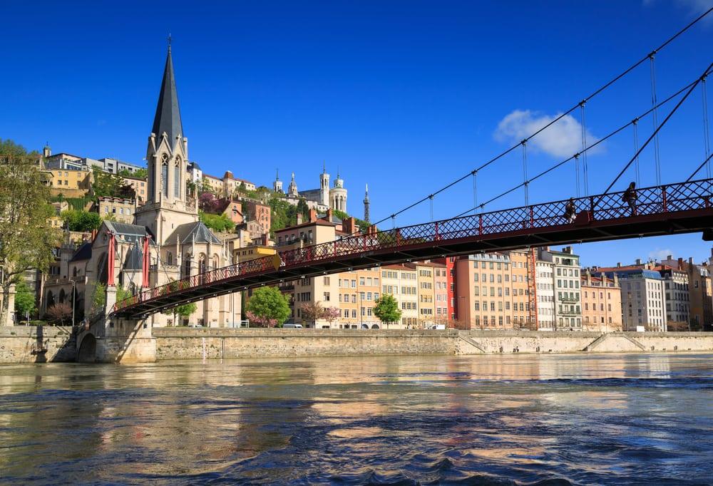 Saint Georges broen - Lyon i Frankrig