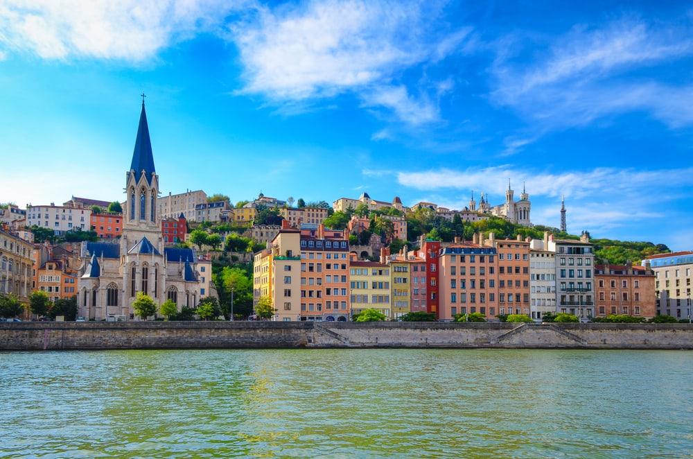Saone floden - Lyon i Frankrig