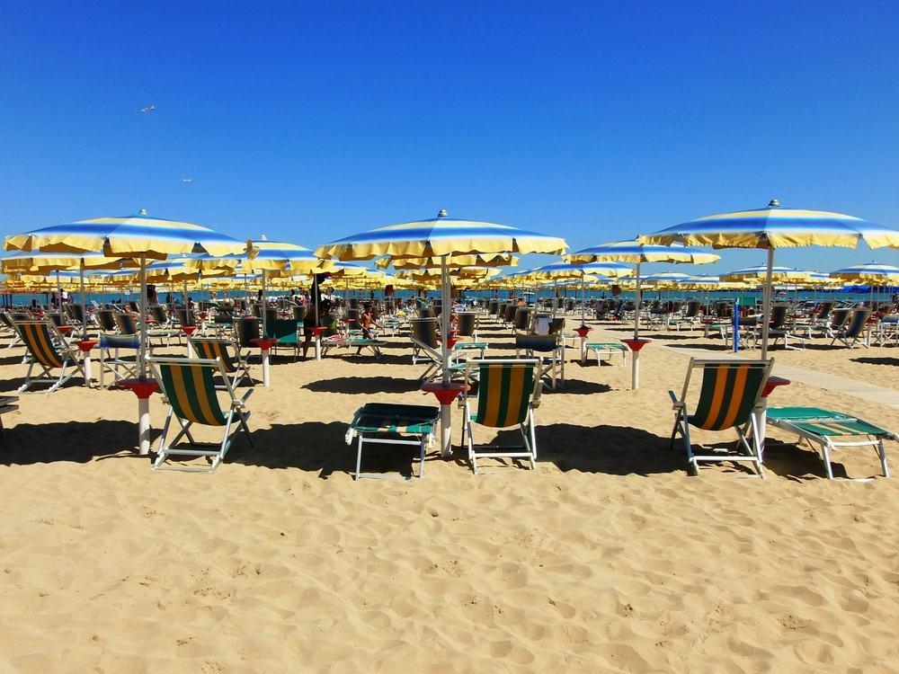 Stranden i Pescara i Italien