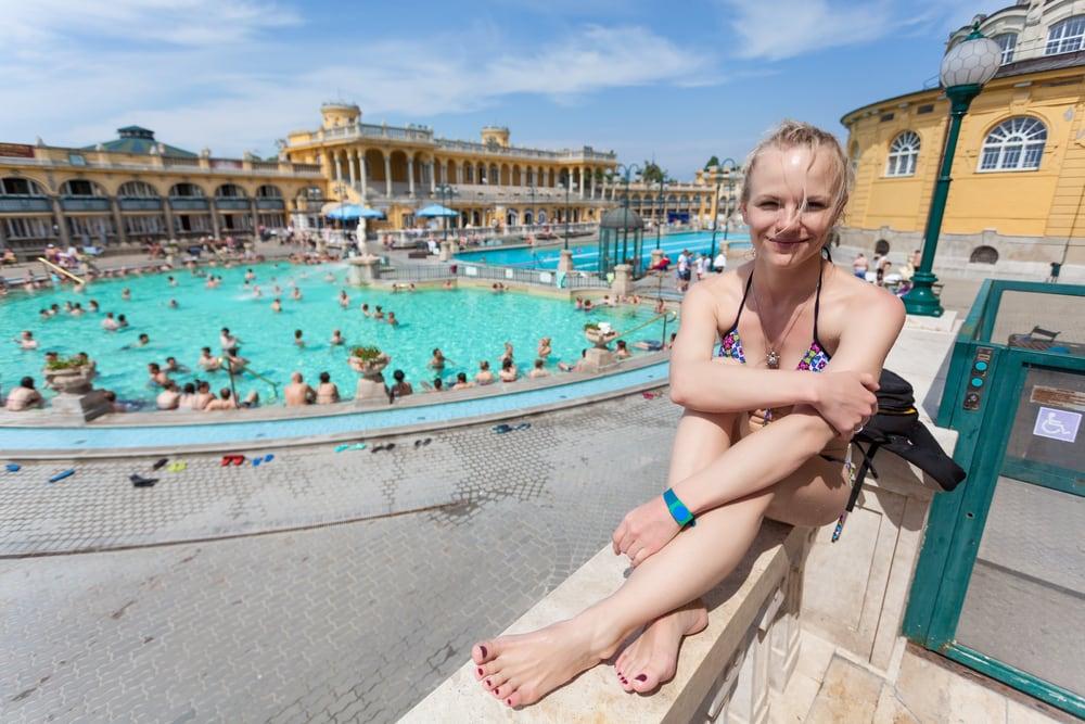 Szechenyi termiske bade - Budapest i Ungarn