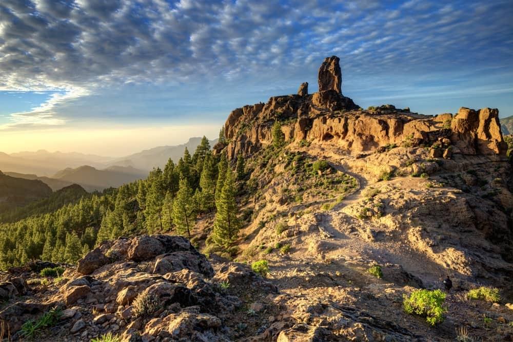 Bjerglandskab på Gran Canaria i Spanien