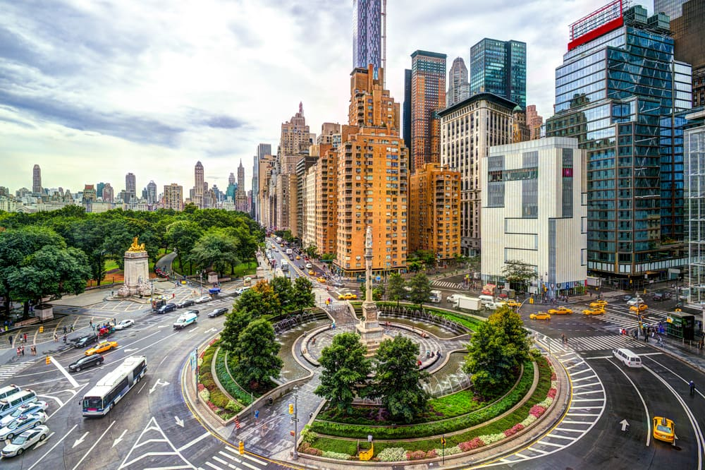 Columbus Circle på Manhattan - New York City i USA