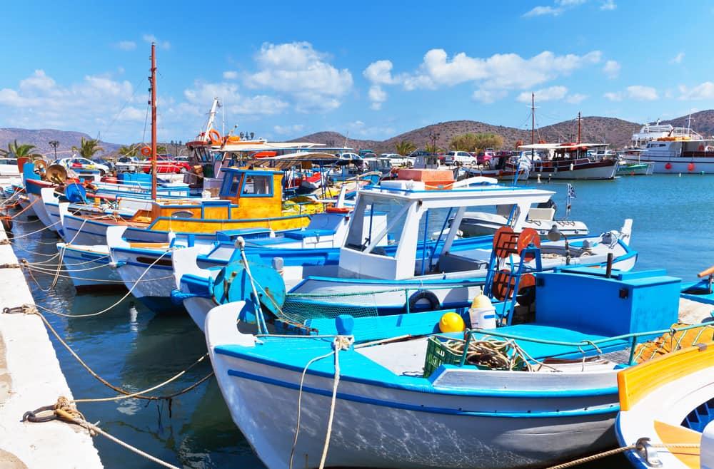 Fiskerbåde i Elounda - Kreta i Grækenland