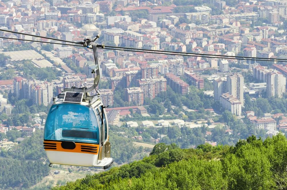 Kabelvogn ved Vodno bjerget - Skopje i Markedonien