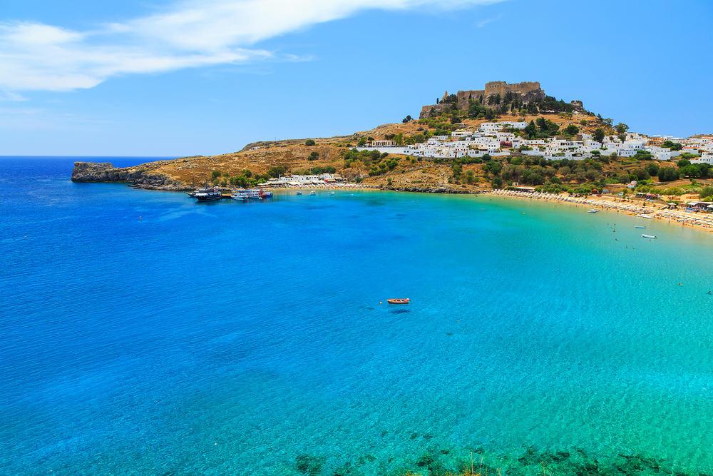 Lindos bugten - Rhodos i Grækenland
