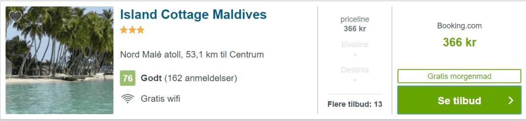Island Cottage Maldives - Nord Male Atoll på Maldiverne
