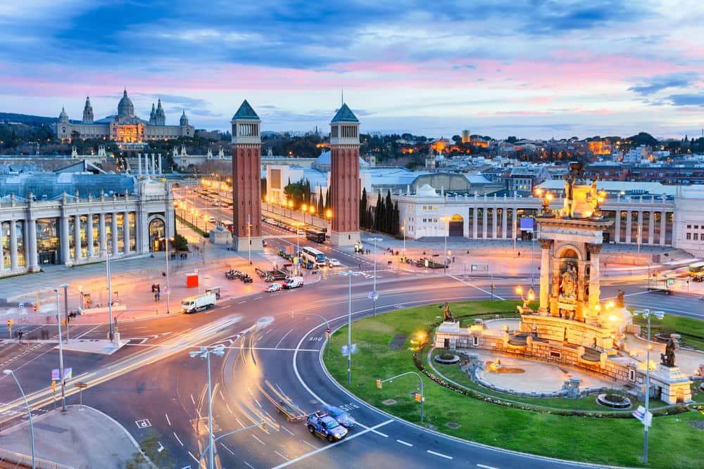 Plaza de Espana - Barcelona i Spanien