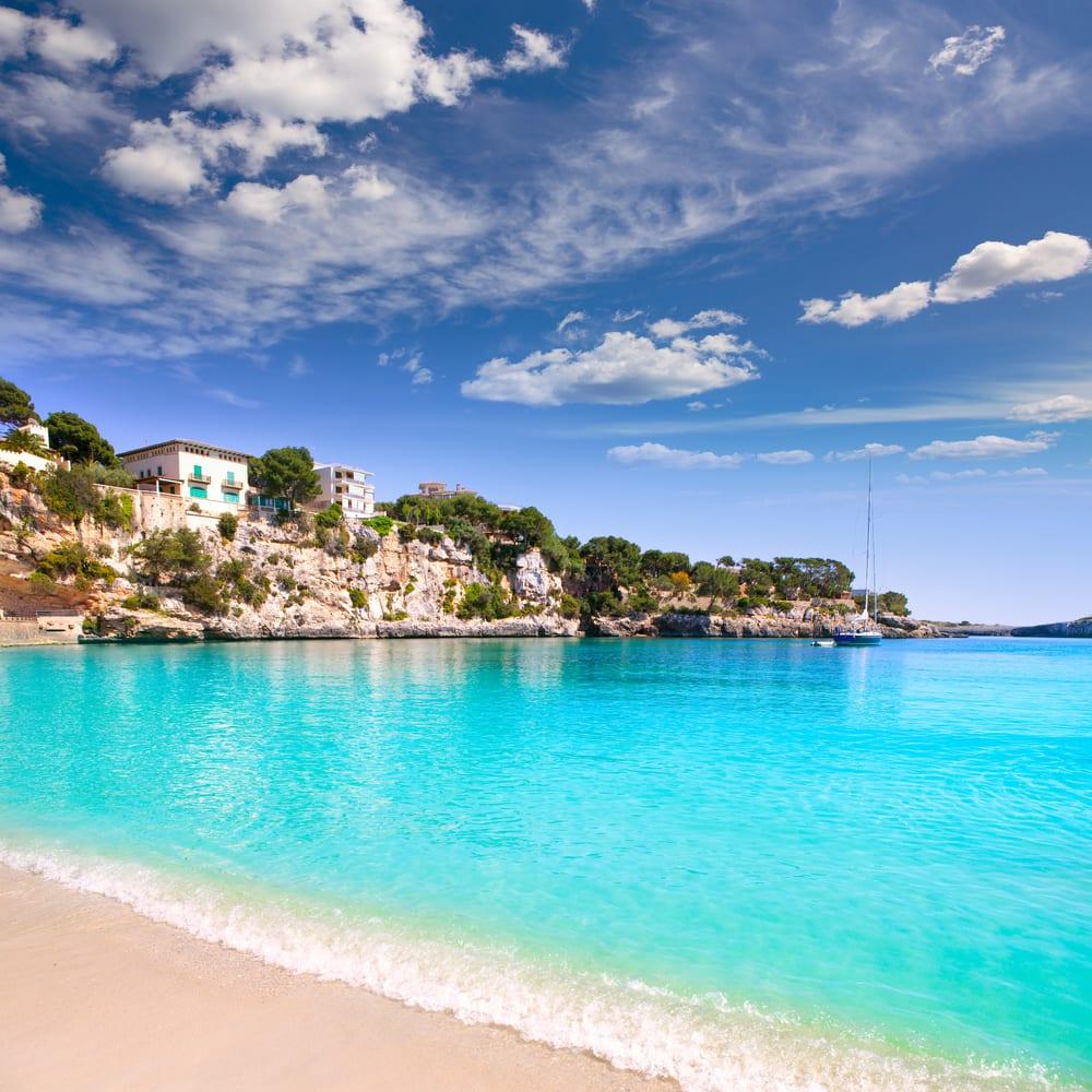 Porto Cristo stranden - Mallorca i Spanien