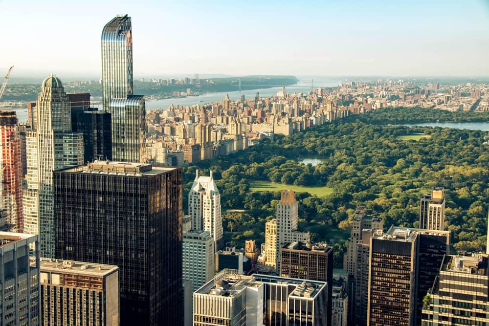 Udsigt over Central Park - New York i USA