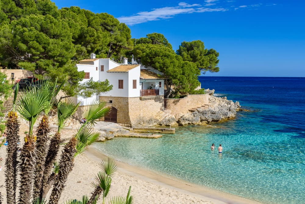 Cala gat at Rajada - Mallorca i Spanien