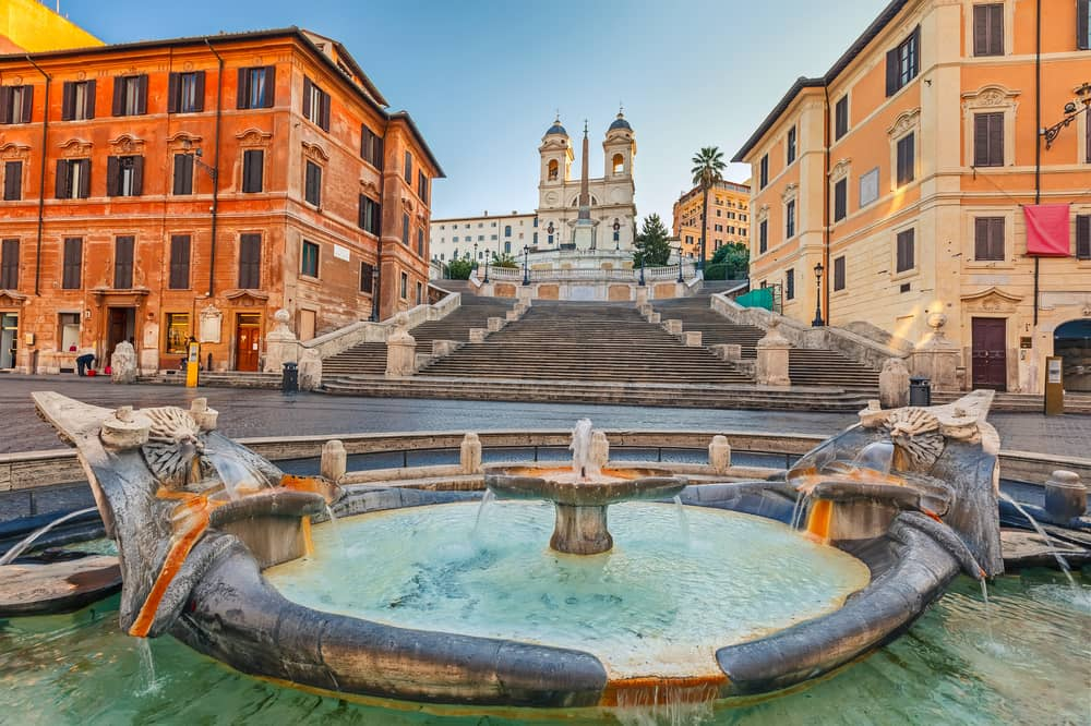 Den Spanske Trappe - Rom i Italien